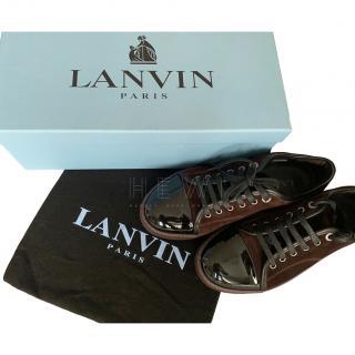 Lanvin Men's Bordeaux Sneakers (Burgundy)