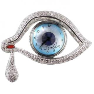 Alemany & Ertman 'The Eye Of Time' Salvador Dali Watch Brooch