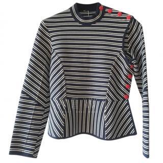 Sonia Rykiel striped peplum-hem sweater