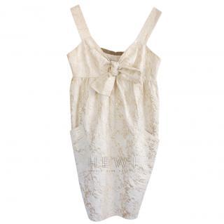 Vera Wang Brocade Bow Detail Dress