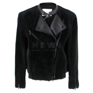 Phillip Lim Motorcycle jacket with Fur and Leather Panelling