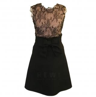 Valentino Lace Panelled A-Line Dress