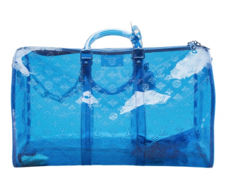 Louis Vuitton Blue Monogram Vinyl RGB Keepall Bandouliere 50