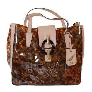 Diane Von Furstenberg Tortoiseshell PVC Tote Bag