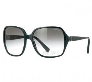 Chanel Dark Green 5284 Signature Square Sunglasses