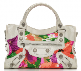 Balenciaga Agneau Canvas Floral Giant 21 City Bag