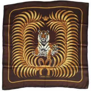 Hermes Tigre Royal Silk Scarf 70