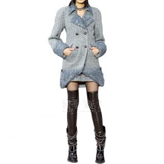 Chanel Grey Tweed Coat