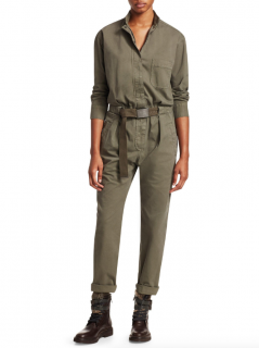 Brunello Cucinelli Green Military Jumpsuit