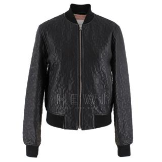 Jonathan Saunders textured leather bomber jacket