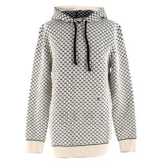 Celine Textured Knit Monogram Hoodie