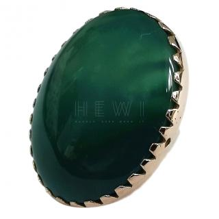 Bespoke 9ct Gold Large Agate Ring