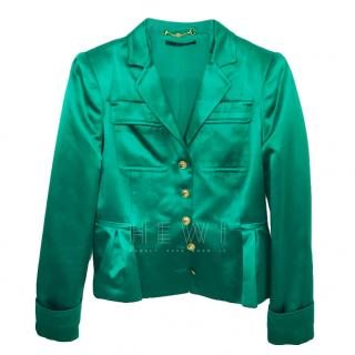 Gucci Green Satin Blazer