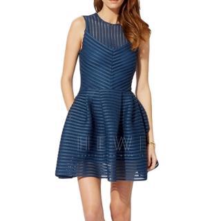 Maje Striped Sleeveless Mini Dress