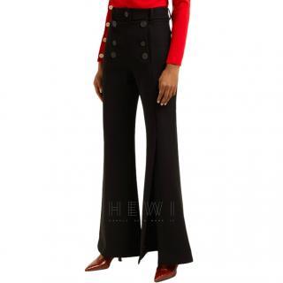AWAKE Buttoned slit-cuff kick-flare trousers