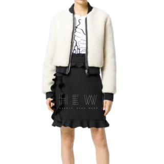 MSGM Ruffled Black Mini Skirt