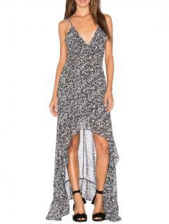 Misa Los Angeles Printed Asymmetric Maxi Dress