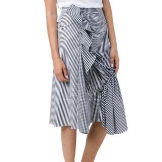 J.W. Anderson patchwork striped asymmetric skirt