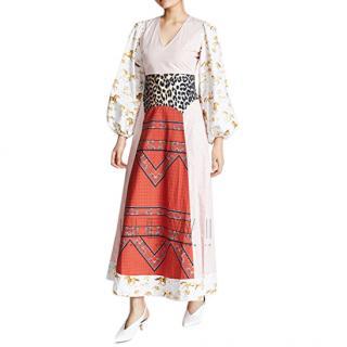 Ganni Patchwork Poplin Dress