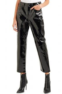 Rag & Bone Cropped patent-leather straight-leg pants