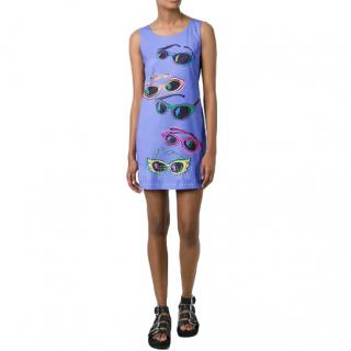Jeremy Scott sunglasses print fitted dress