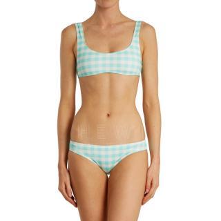 Solid & Striped Aqua Gingham Bikini