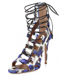 Aquazzura Python Amazon Lace-up Sandals