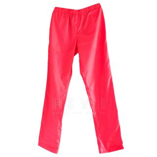 MSGM Pink Neon Track Pants