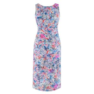Erdem Floral Print Cut Out Midi Dress