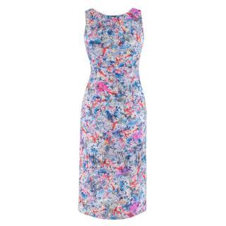 Erdem Floral Print Cut Out Midi Dress