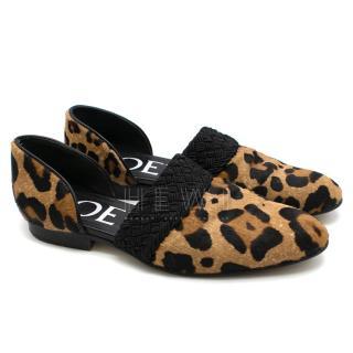 Loewe Multicolor Flex Calf Hair D'orsay Loafers