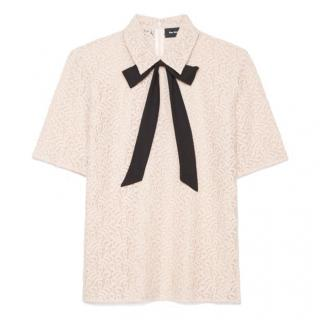 The Kooples Lace Bow Detail Top