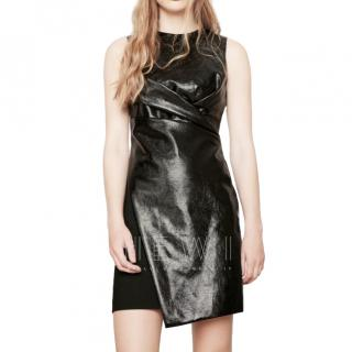 Maje Wet Look Rinil Dress