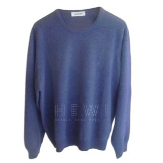 Balmain Men's Blue Knit Jumper