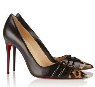 Christian Louboutin Front Double 100 leather pumps