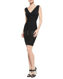 Herve Leger Black Karima Bandage Dress