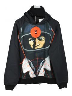 Christopher Kane racer print zip back hoodie