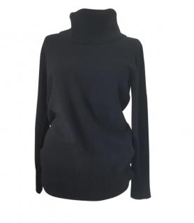 Max Mara Black Wool Roll Neck Sweater