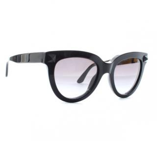 Valentino Black Butterfly Rockstud Sunglasses