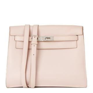 HERMES Kelly Danse in Rose Dragee Swift Leather