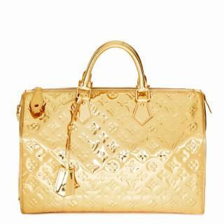 Louis Vuitton Metallic Gold Speedy 35 Mirror Tote