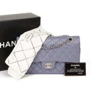 Chanel Quilted Lilac Double Flap Bag