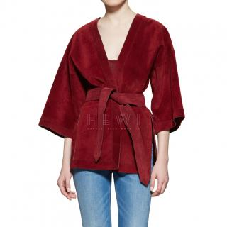Gucci Suede Belted Wrap Jacket