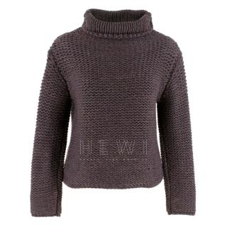 Brunello Cucinelli Cashmere Roll Neck Chunky Knit Sweater