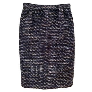 Moschino Cheap & Chic Blue Tweed Skirt