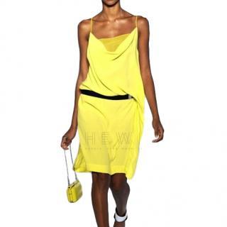Diane Von Furstenberg Asymmetric Yellow Dress