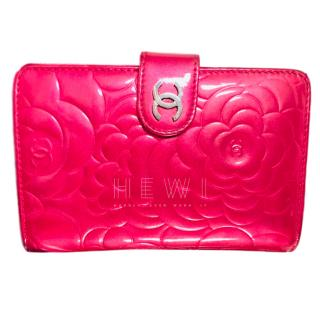 Chanel Pink Camellia Wallet