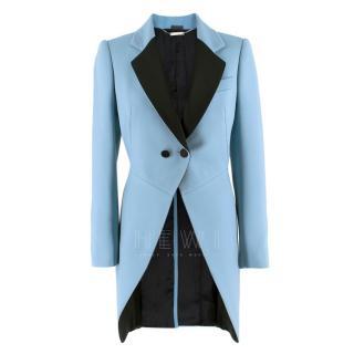 Alexander McQueen Blue Vented Frock Coat