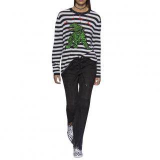 Dior Striped Cashmere Embroidered Jumper