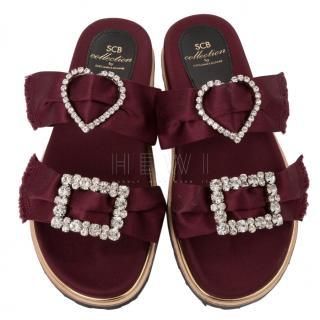 Suecomma Bonnie Satin Embellished Sandals